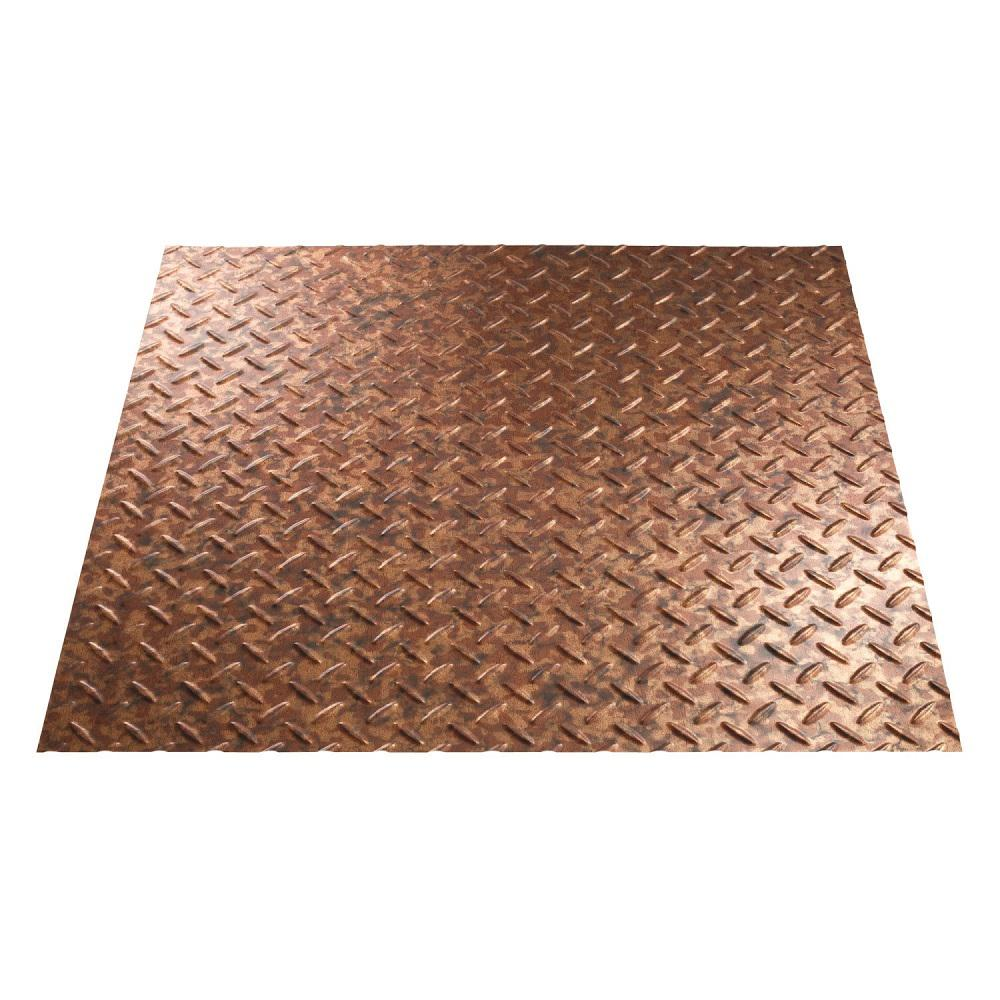 Fasade Diamond Plate 96 in. x 48 in. Vinyl Decorative Wall Panel ...