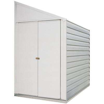 Yard Saver 4 ft. W x 10 ft. D White Galvanized Metal Storage Shed