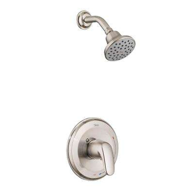 Colony Pro Single-Handle 1-Spray Shower Faucet Trim Kit in Brushed Nickel (Valve Not Included)