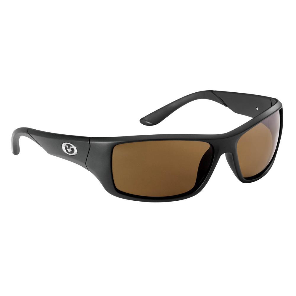 c6ba95ff7c Flying Fisherman Triton Polarized Sunglasses Matte Black Frame with Amber  Lens