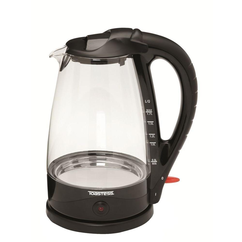 Toastess 1.7 qt. Cordless Glass Kettle