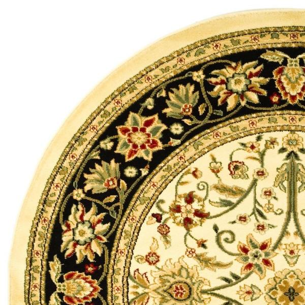 Safavieh Lyndhurst Collection LNH212B Ivory and Black Round Area Rug 8 Diameter 8 feet in Diameter