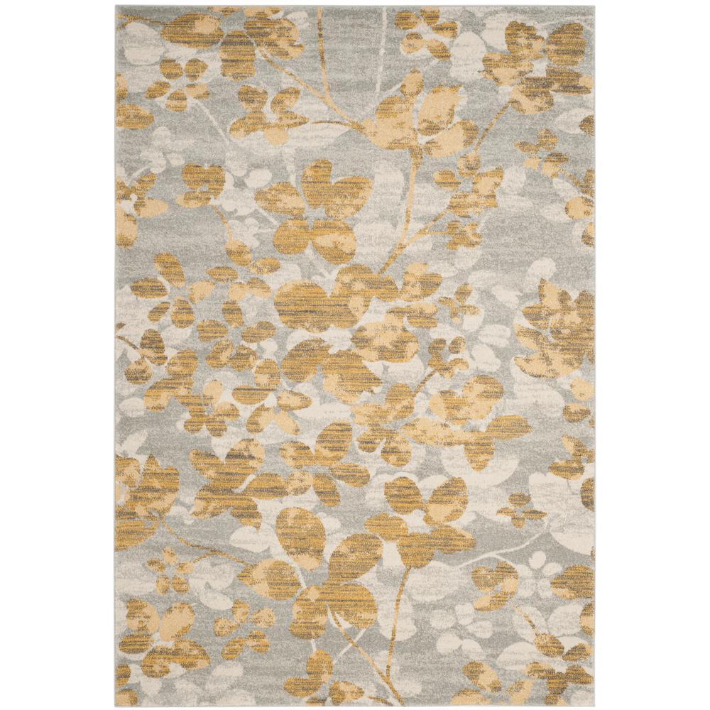 Evoke Gray/Gold 6 ft. 7 in. x 9 ft. Area Rug