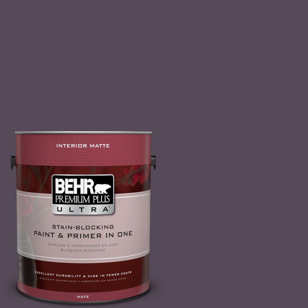 BEHR Premium Plus Ultra 1 gal. #670F-7 Blackberry Wine Flat/Matte Interior Paint