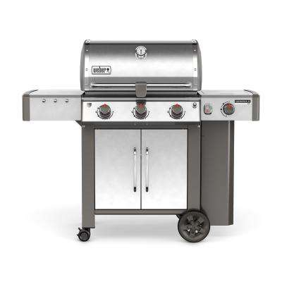 Genesis II LX S-340 3-Burner Propane Gas Grill in Stainless Steel with Built-In Thermometer and Grill Light