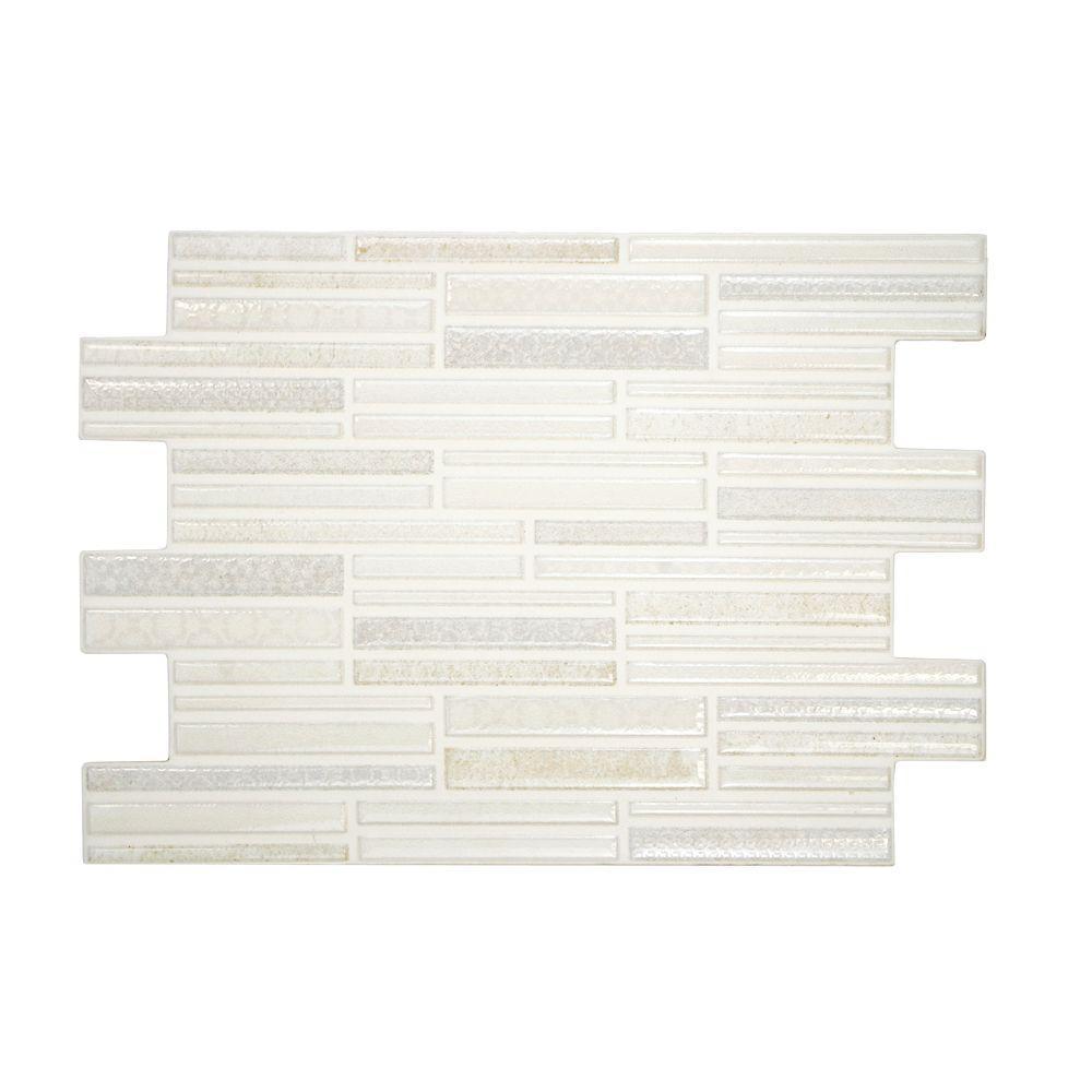 Merola Tile Magna Luxury White 8 in. x 12 in. Ceramic Wall Tile