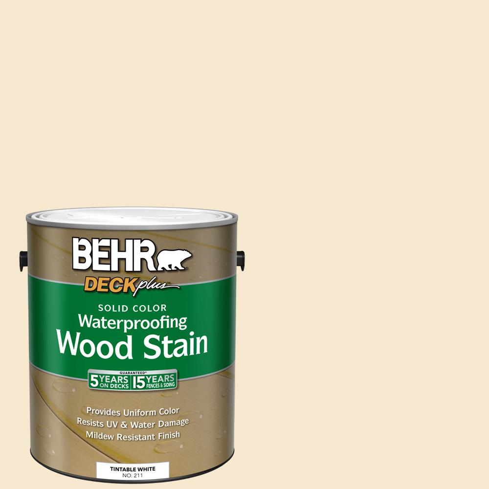 BEHR DECKplus 1 gal. White Base Solid Color Waterproofing Exterior Wood Stain
