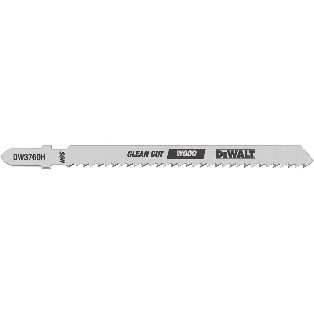 DEWALT 4 in. 10 TPI Fine Finish Wood Cutting Jig Saw Blade HCS T ...