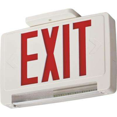 Contractor Select Thermoplastic LED Integrated Emergency Exit Sign/Fixture Unit Combo