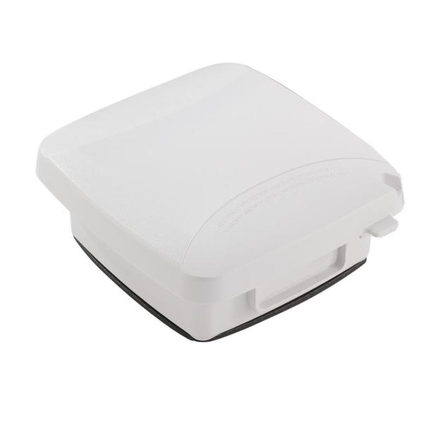 2-Gang Extra-Duty Plastic In-Use Electrical Outlet Cover in White