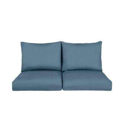 Marquis Replacement Outdoor Loveseat Cushion in Denim