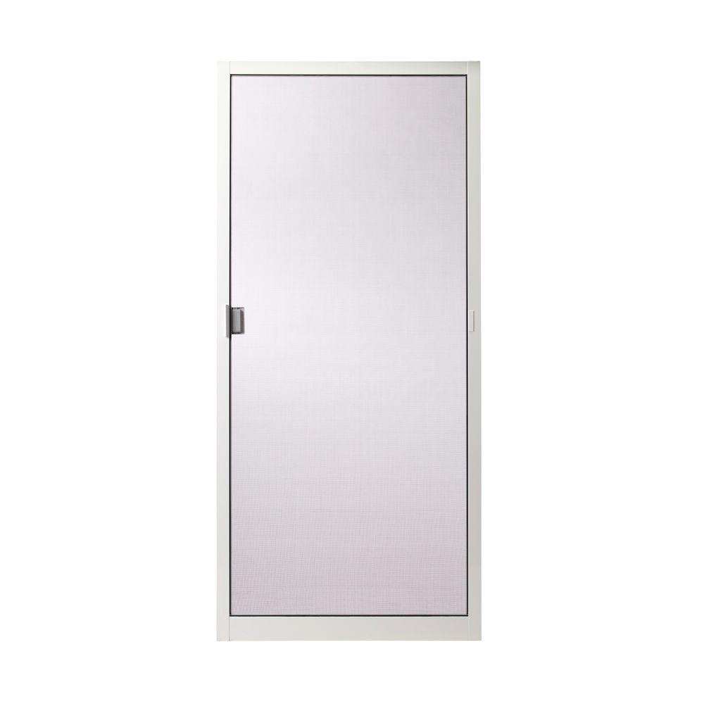 200 Series White Aluminum Sliding Patio Door Insect