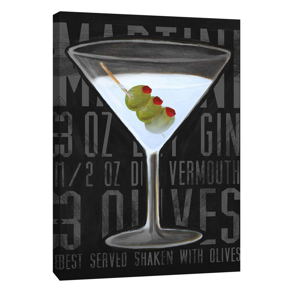 12 In X 10 In Martini Vertical Printed Canvas Wall Art