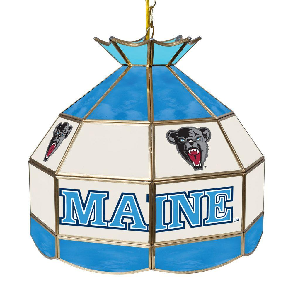 Trademark University of Maine 16 in. Gold Hanging Tiffany...