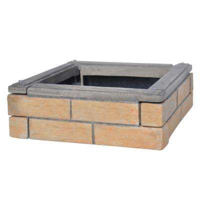 1.6 ft. Brick Finish Composite Faux Brick Edger's (4-Set)