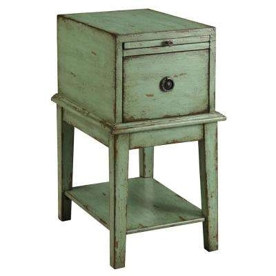 Bayford Weathered Green 1-Drawer Chest