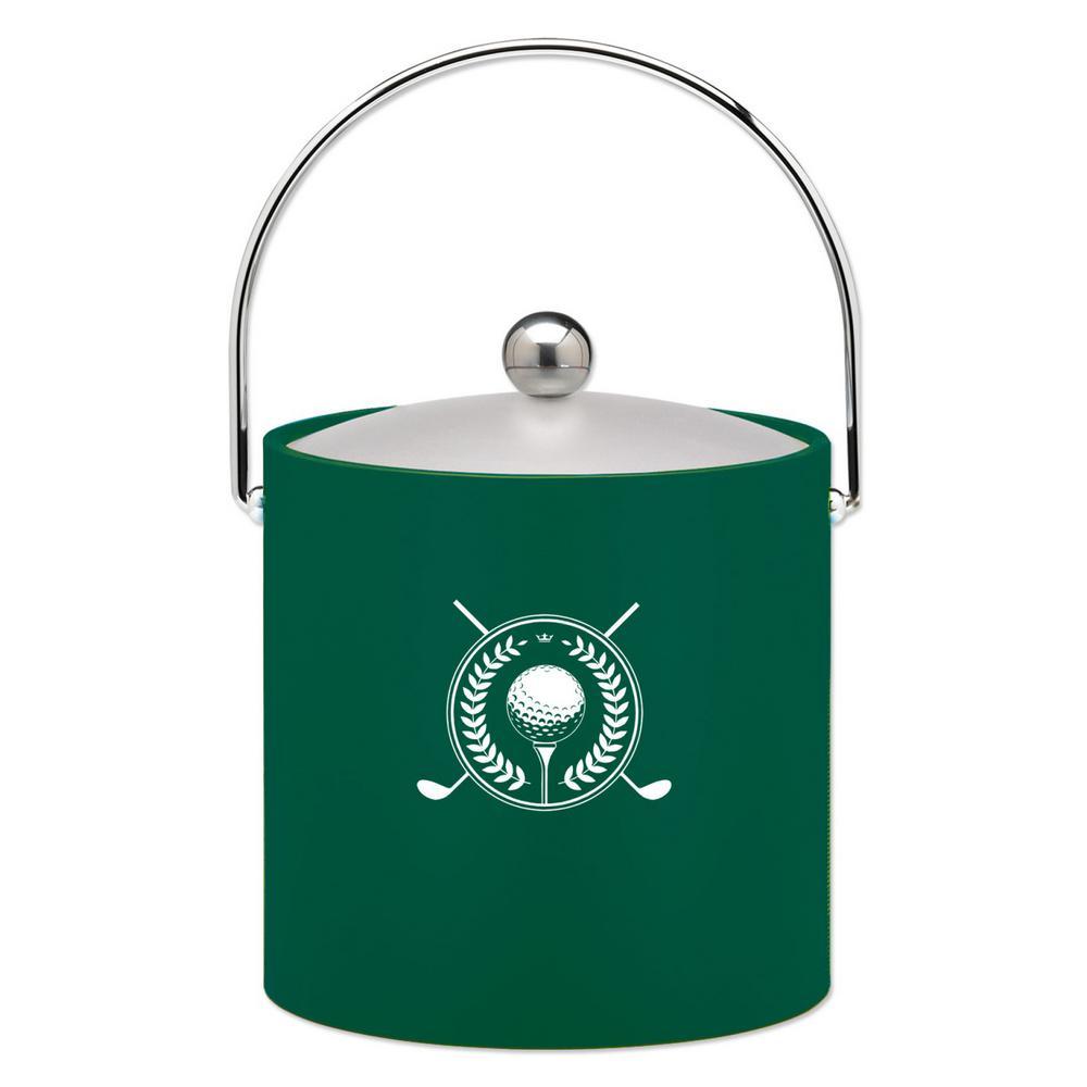Kraftware Kasualware Golf 3 Qt. Ice Bucket in Green by Kraftware