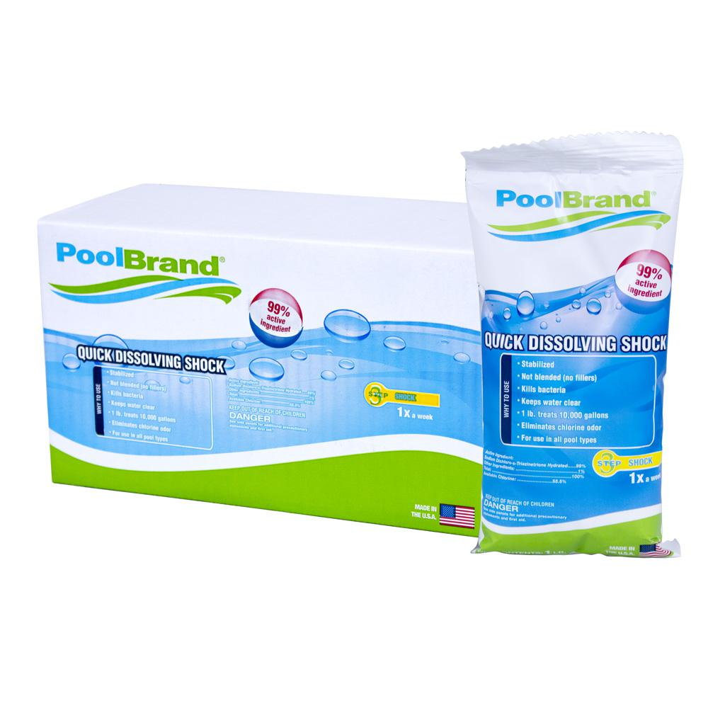 how much chlorine bleach to shock pool