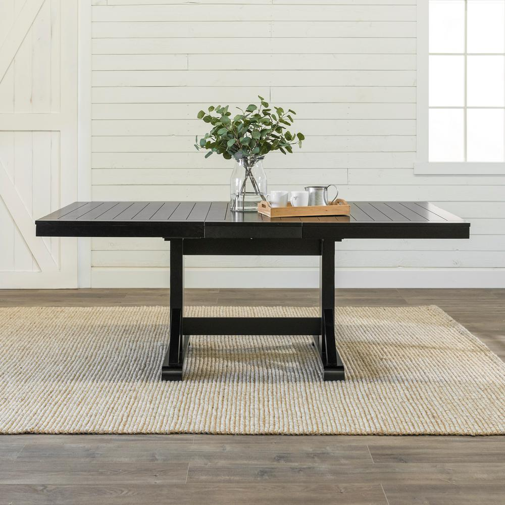 Walker Edison Furniture Company Millwright Black Extendable Dining Table