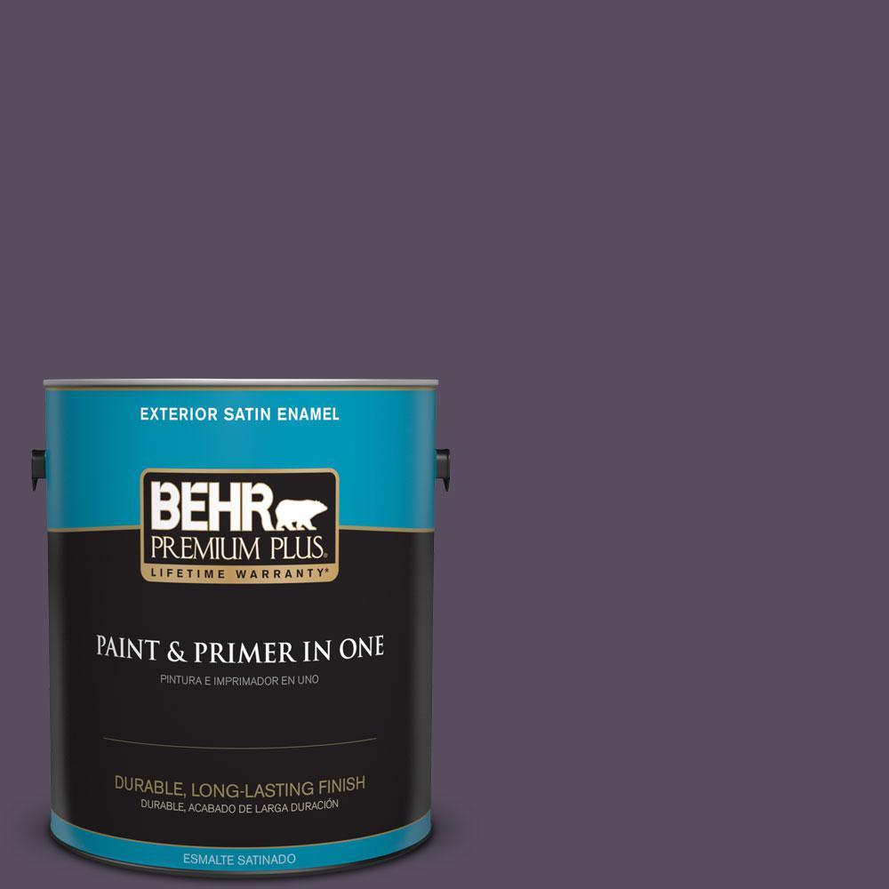 1-gal. #660F-7 Napa Grape Satin Enamel Exterior Paint