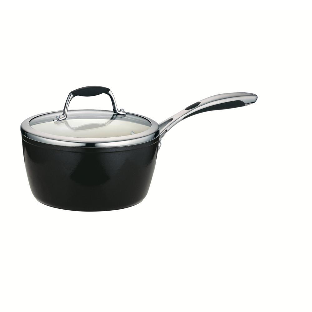 Gourmet Ceramica 3 Qt. Aluminum Saucepan with Lid