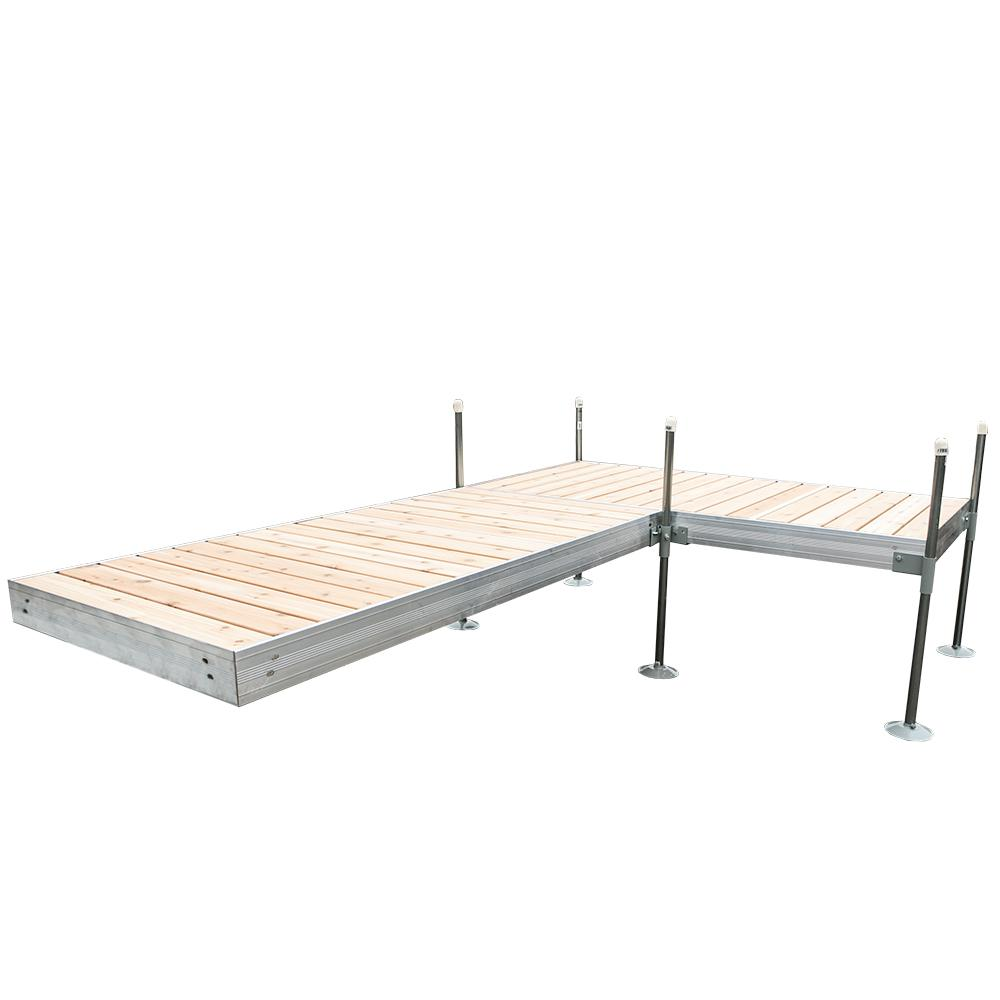 Tommy Docks 12 ft. L-Style Aluminum Frame with Cedar Decking Complete Dock Package