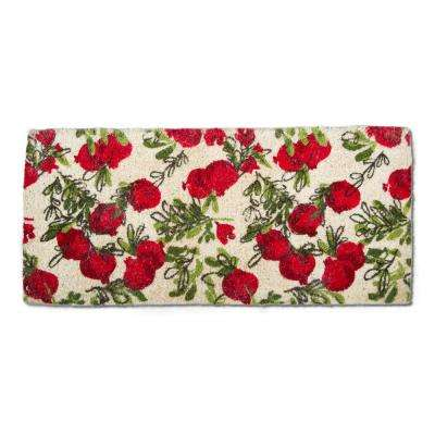 Pomegranate 18 in. x 40 in. Coir Estate Door Mat