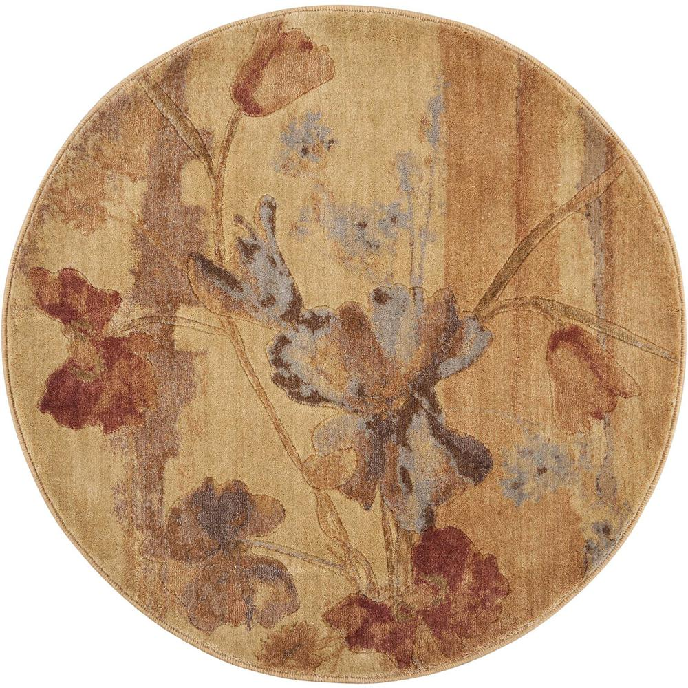 Nourison Somerset Beige 6 Ft Round Area Rug 582737 The Home Depot
