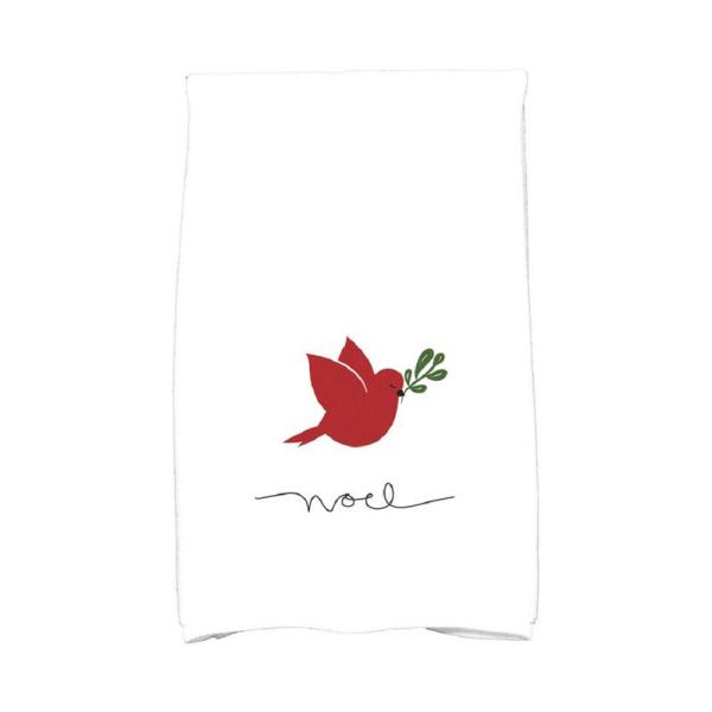 Red Noel Bird Holiday Animal Print Kitchen Towel