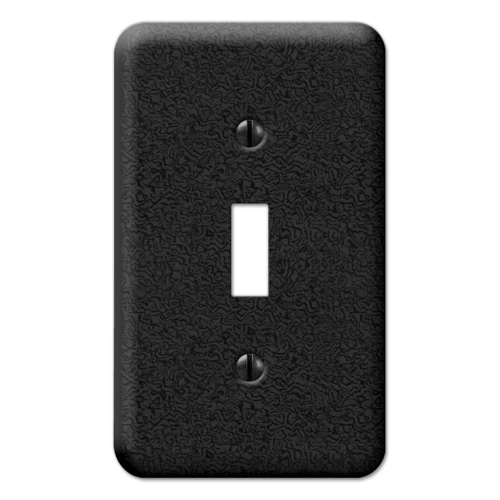 Creative Accents 1 Gang Toggle Wall Plate - Fractured Charcoal