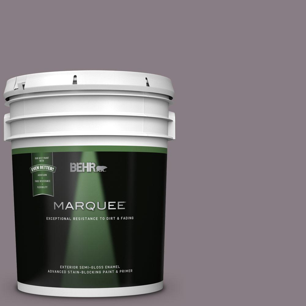 Behr Marquee 5 Gal N570 4 Classy Plum Semi Gloss Enamel Exterior Paint And Primer In One 545305 The Home Depot