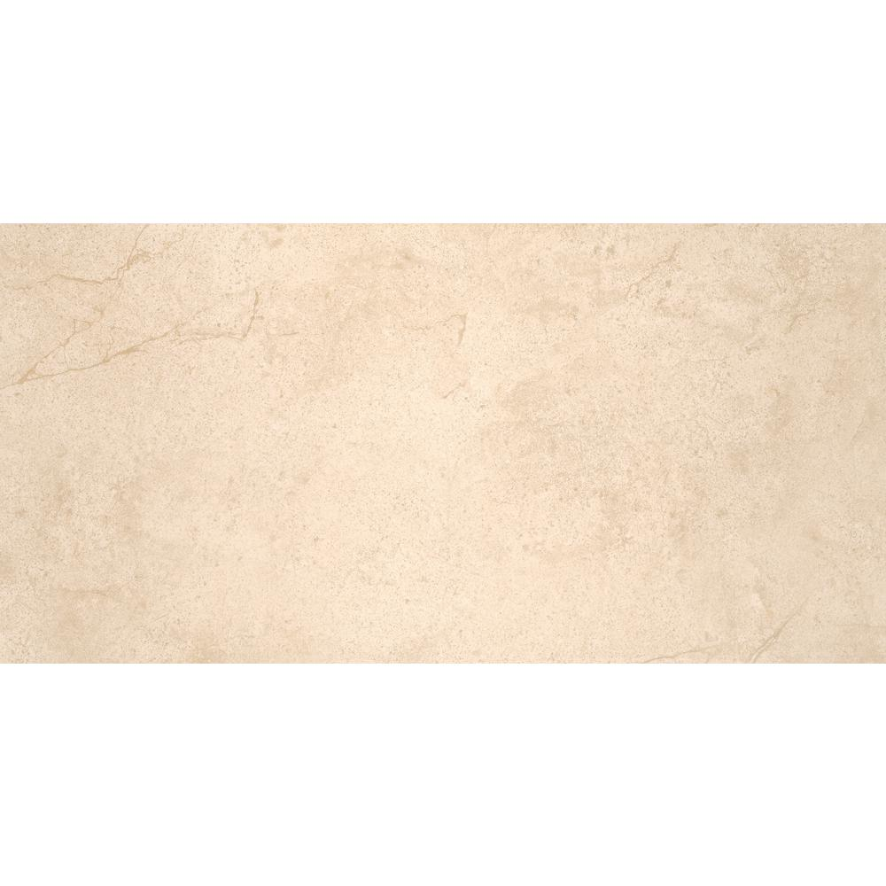 Aria Cremita 12 in. x 24 in. Polished Porcelain Floor and