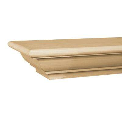 Traditional 5 ft. Paint Grade Cap-Shelf Mantel