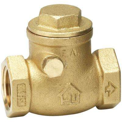 1-1/4 in. Brass FPT x FPT Swing Check Valve