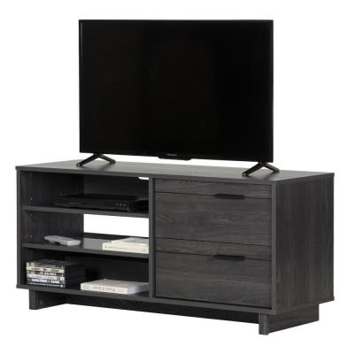 Fynn 48 in. Gray Oak Particle Board TV Stand 55 in.