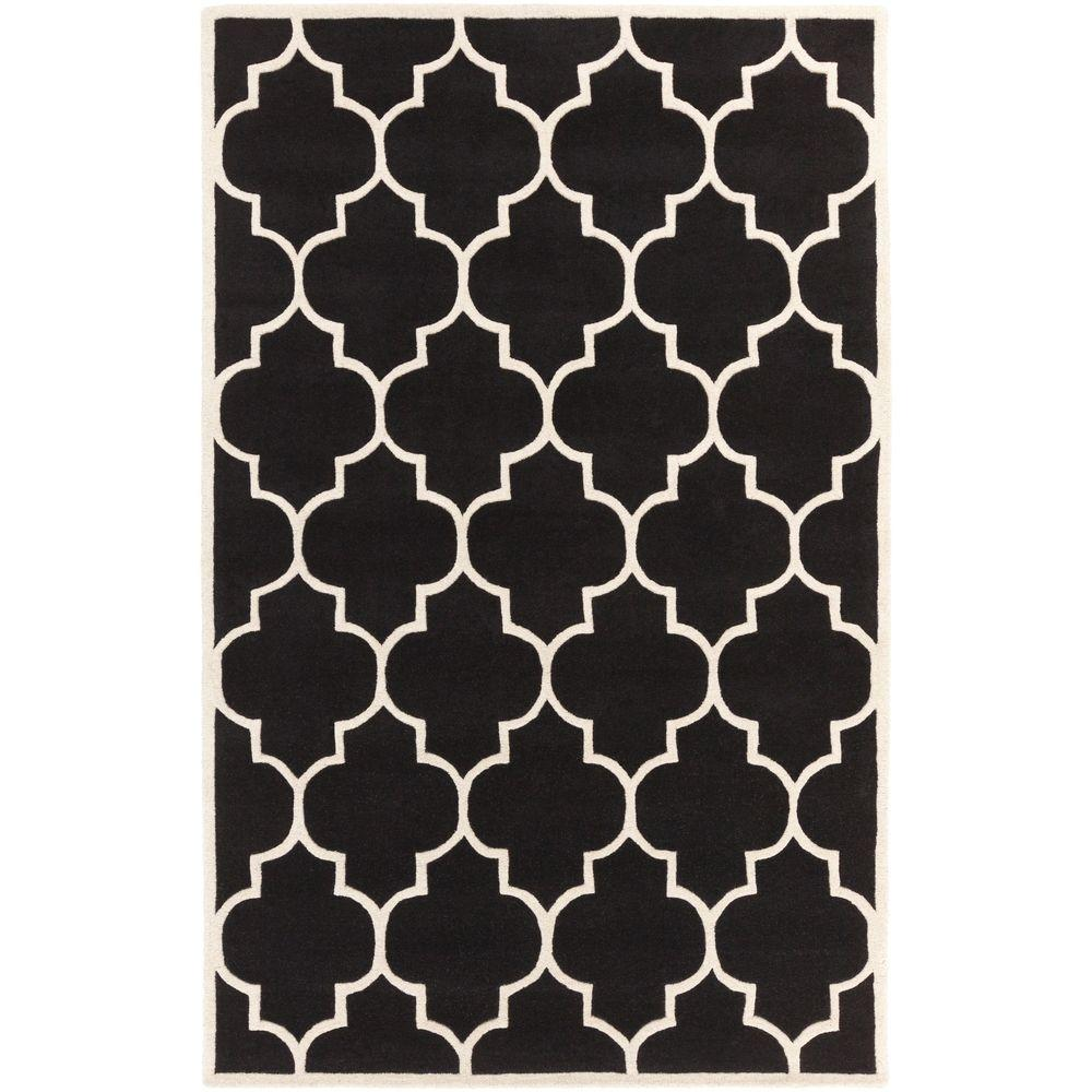 Transit Piper Black 8 ft. x 11 ft. Indoor Area Rug