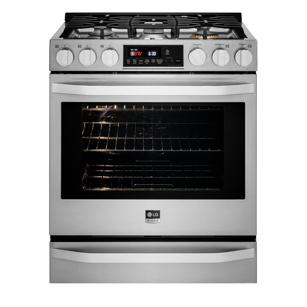 30 in. 6.3 cu. ft. Gas Range with Self-Cleaning Oven in