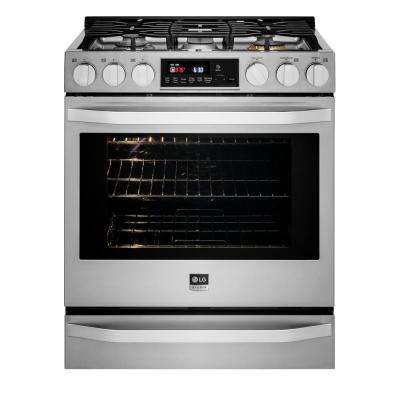 30 in. 6.3 cu. ft. Gas Range with Self-Cleaning Oven in Stainless Steel