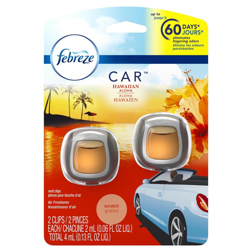 0.06 oz. Hawaiian Aloha Car Vent Clip Air Freshener (2-Pack)