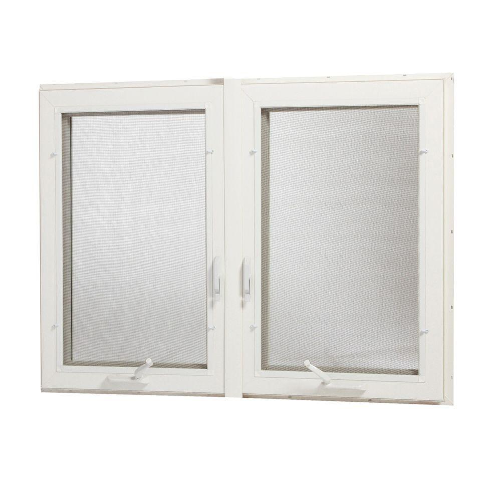 Tafco windows 48 in x 48 in vinyl casement window with for Vinyl insulated windows