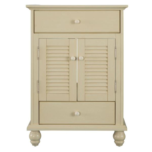 Cottage 24 in. W x 21-5/8 in. D x 34 in. H Vanity Cabinet Only in Antique White