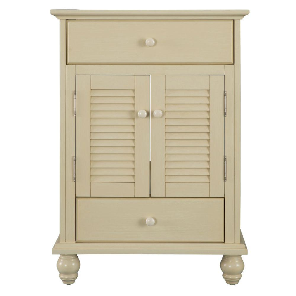 Home Decorators Collection Cottage 24 in. W x 21-5/8 in. D x 34 in. H Vanity Cabinet Only in Antique White