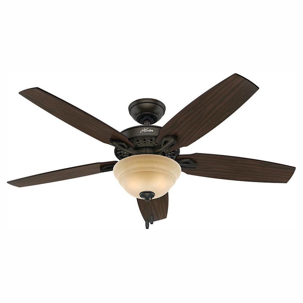 Hunter Heathrow 52 in. LED Indoor New Bronze Ceiling Fan