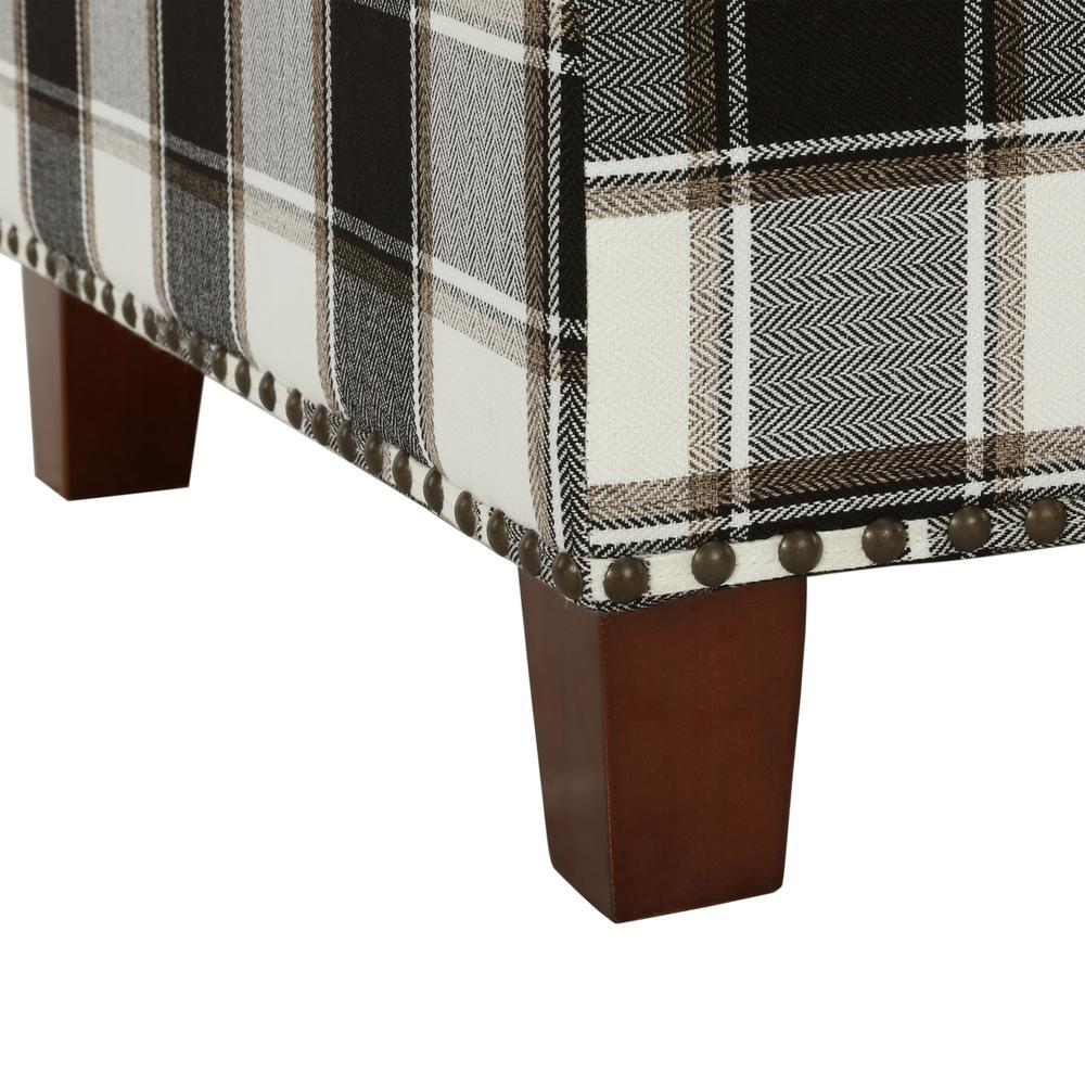Cool Dorel Living Kimball Black Plaid Pattern Storage Ottoman Machost Co Dining Chair Design Ideas Machostcouk