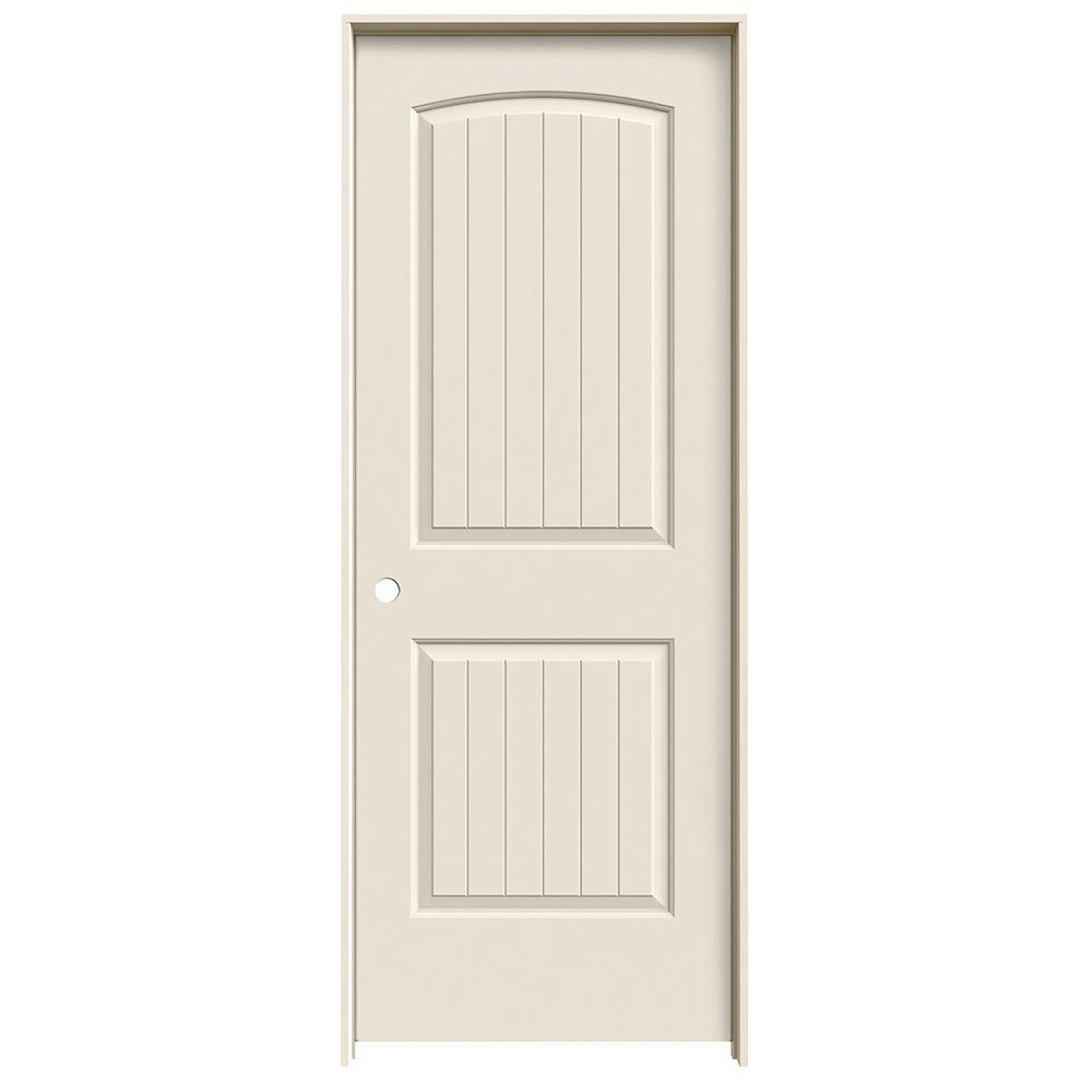 Jeld Wen 30 In X 80 Santa Fe Primed Right Hand Smooth Solid Core Molded Composite Mdf Single Prehung Interior Door