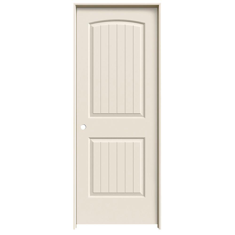 30 in. x 80 in. Santa Fe Primed Right-Hand Smooth Solid Core Molded Composite MDF Single Prehung Interior Door