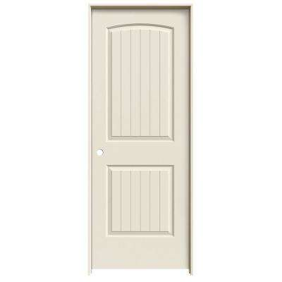 30 in. x 80 in. Santa Fe Primed Right-Hand Smooth Solid Core Molded Composite MDF Single Prehung Interior Door