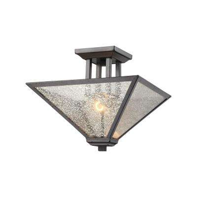 Square Bronze SemiFlushmount Lights Ceiling Lights The