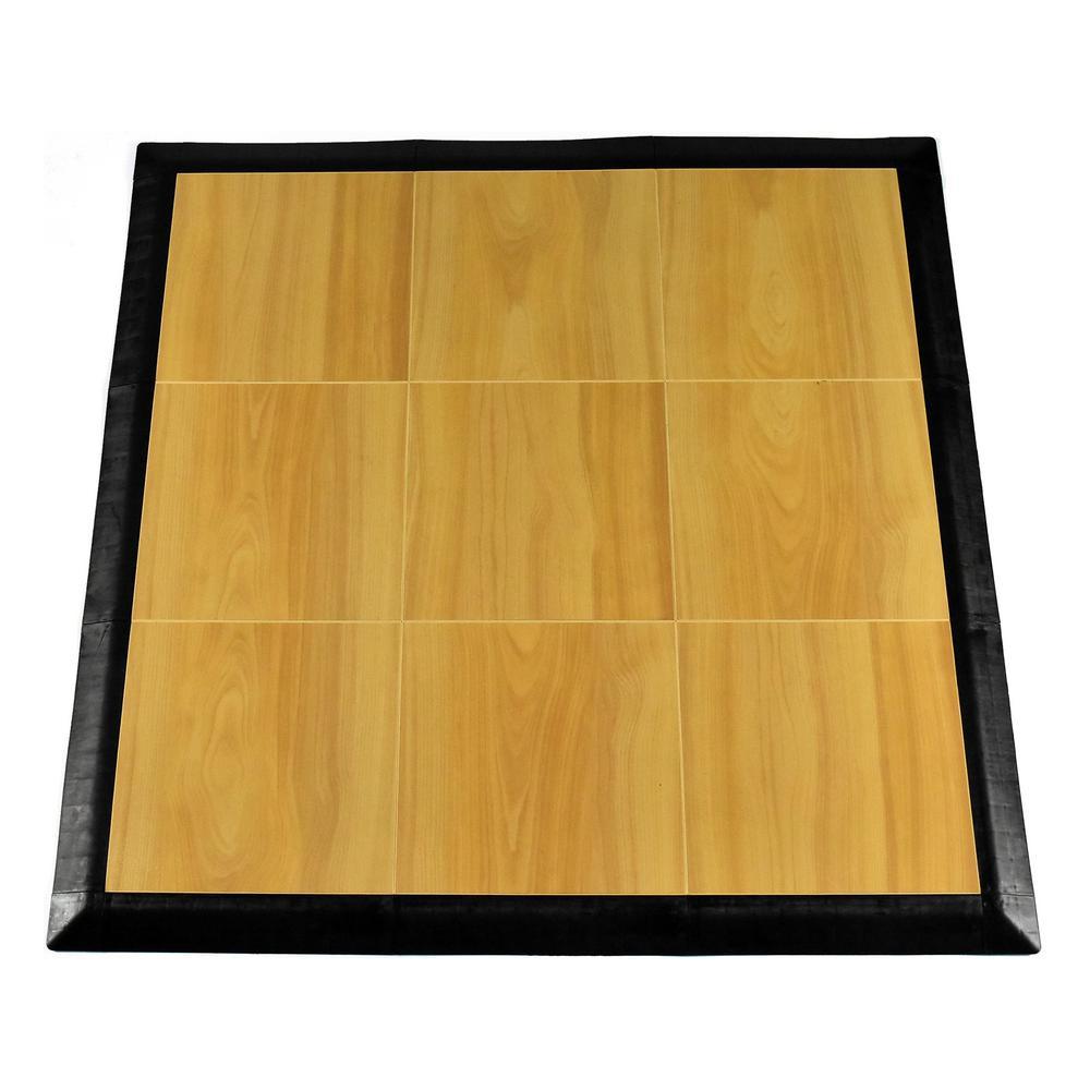 Max Tile 40.75 in. x 40.75 in. x 5/8 in. Maple Interlocking Vinyl Tile Portable Tap Dance Floor (9 sq. ft. / case)