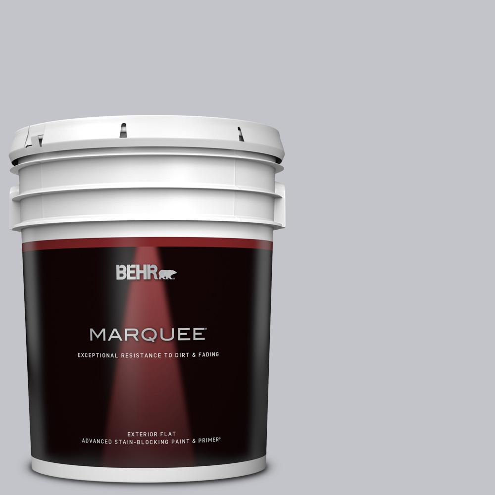 Behr Marquee 5 Gal N540 2 Glitter Color Flat Exterior Paint And Primer In One 445005 The Home Depot